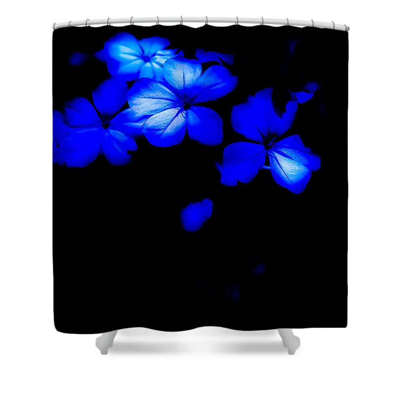 Moonlit Shower Curtain featuring the photograph Moonlit Blue by Heather Joyce Morrill