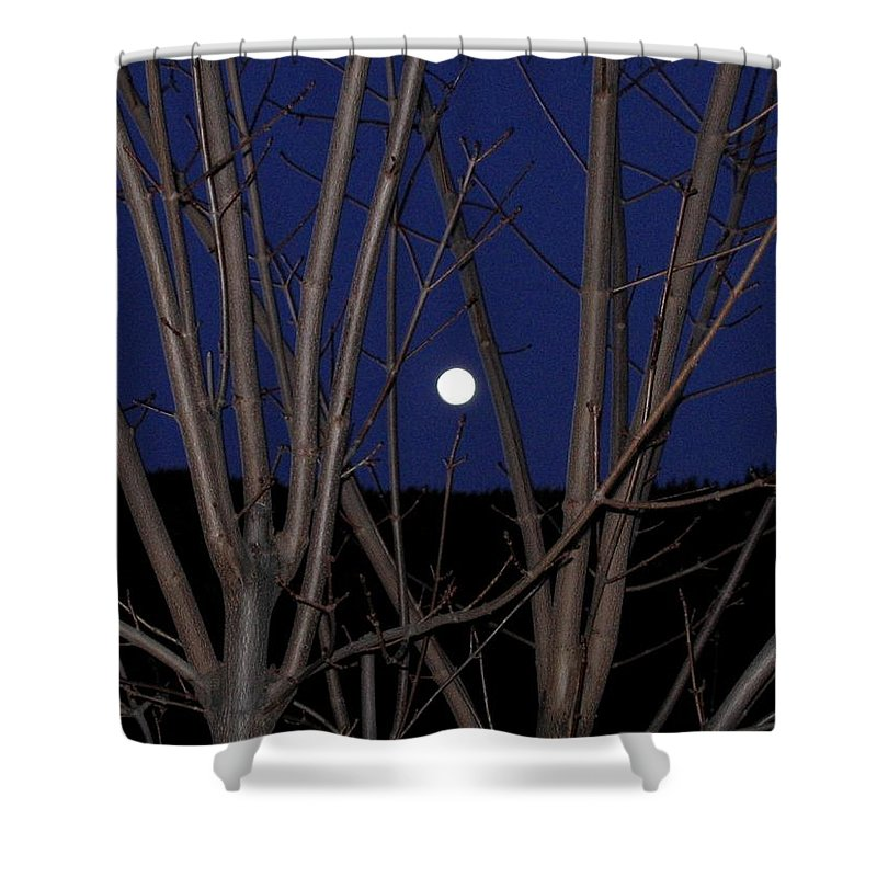 Moon Shower Curtain featuring the photograph Moonrise by Will Borden