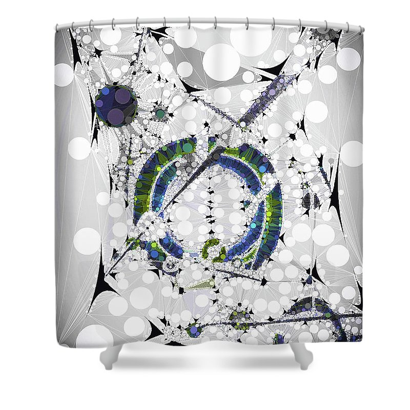 Compass Shower Curtain Monochrome Simplistic Print for Bathroom