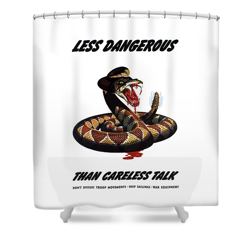 Rattlesnake Shower Curtain featuring the painting More Dangerous Than A Rattlesnake - Ww2 by War Is Hell Store