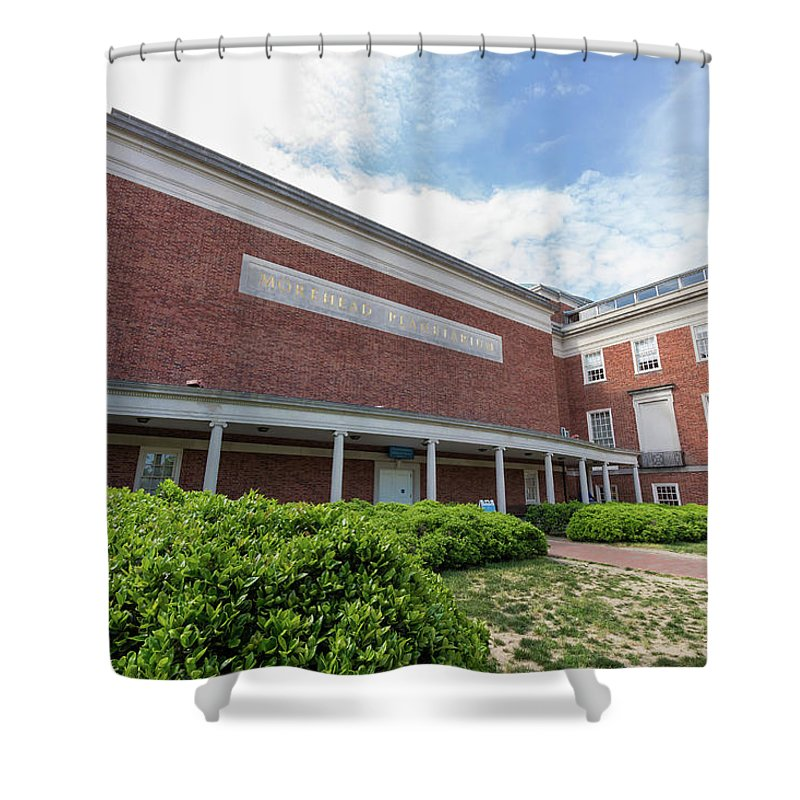 Architecture Shower Curtain Featuring The Photograph Morehead Planetarium At Unc Chapel Hill By Bryan Pollard