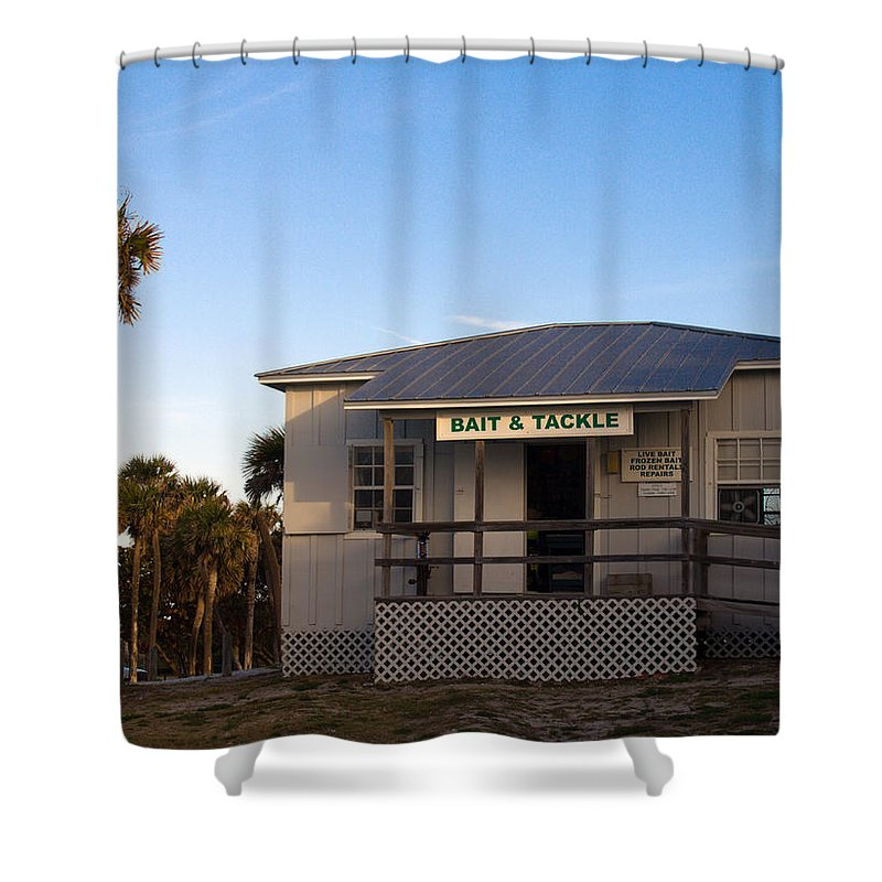 Morning Shower Curtain featuring the photograph Morning At Sebastian Inlet In Florida by Allan Hughes