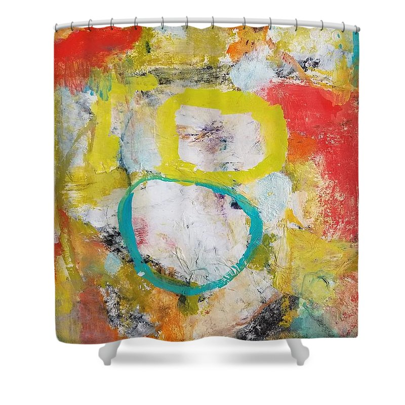 Abstract Shower Curtain featuring the painting Morning Calm by Patricia Byron