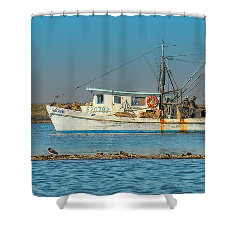 Boats Shower Curtain featuring the photograph Morning Catch by Kevin Hurley