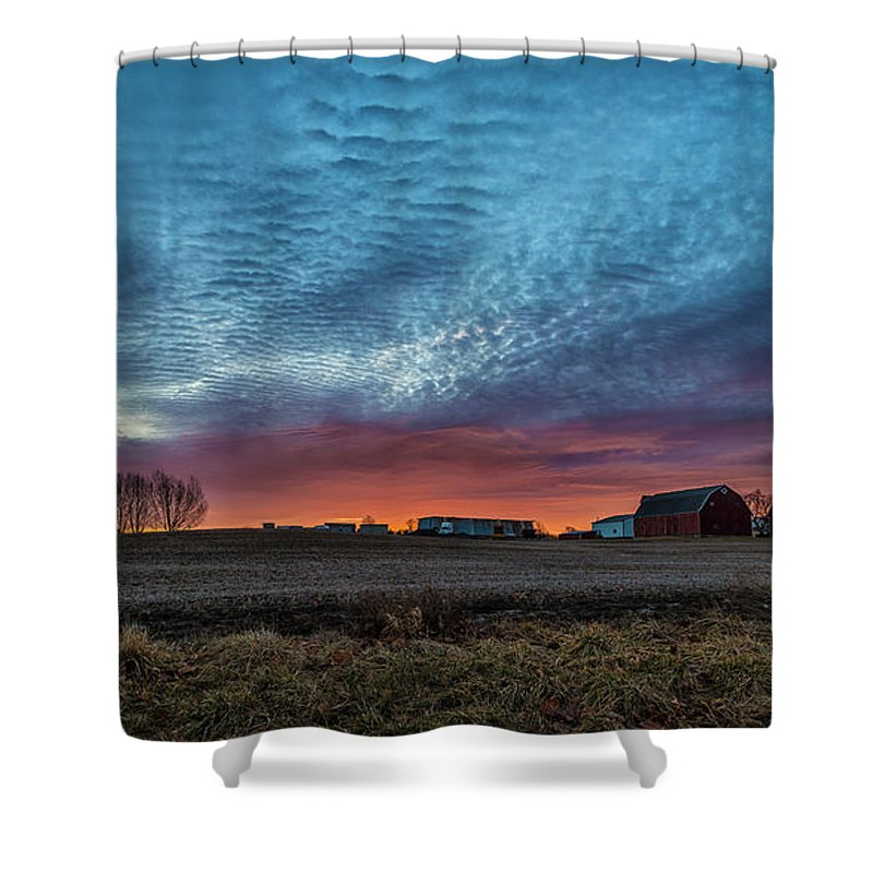 Outdoor Shower Curtain featuring the photograph Morning Color by Joann Long