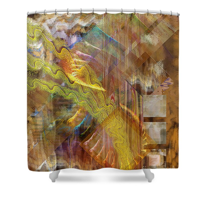 Morning Dance Shower Curtain featuring the digital art Morning Dance by John Beck