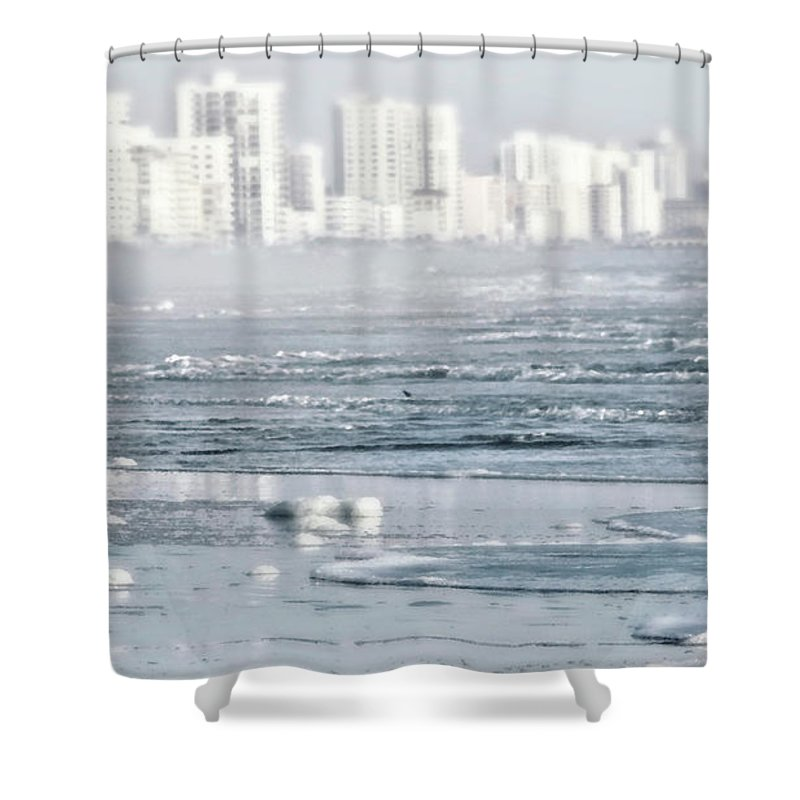 Cityscape Shower Curtain featuring the photograph Morning Dreams In Daytona by Janie Johnson