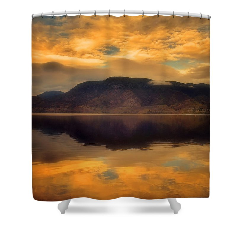 Clouds Shower Curtain featuring the photograph Morning Fire by Tara Turner