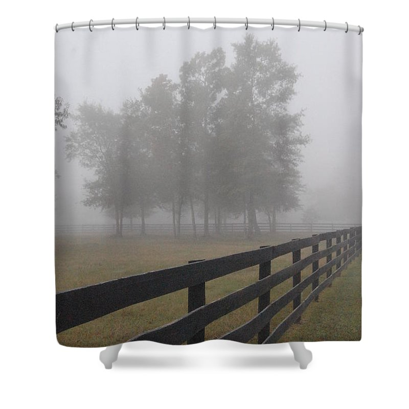 Fog Shower Curtain featuring the photograph Morning Fog by Donna Bentley