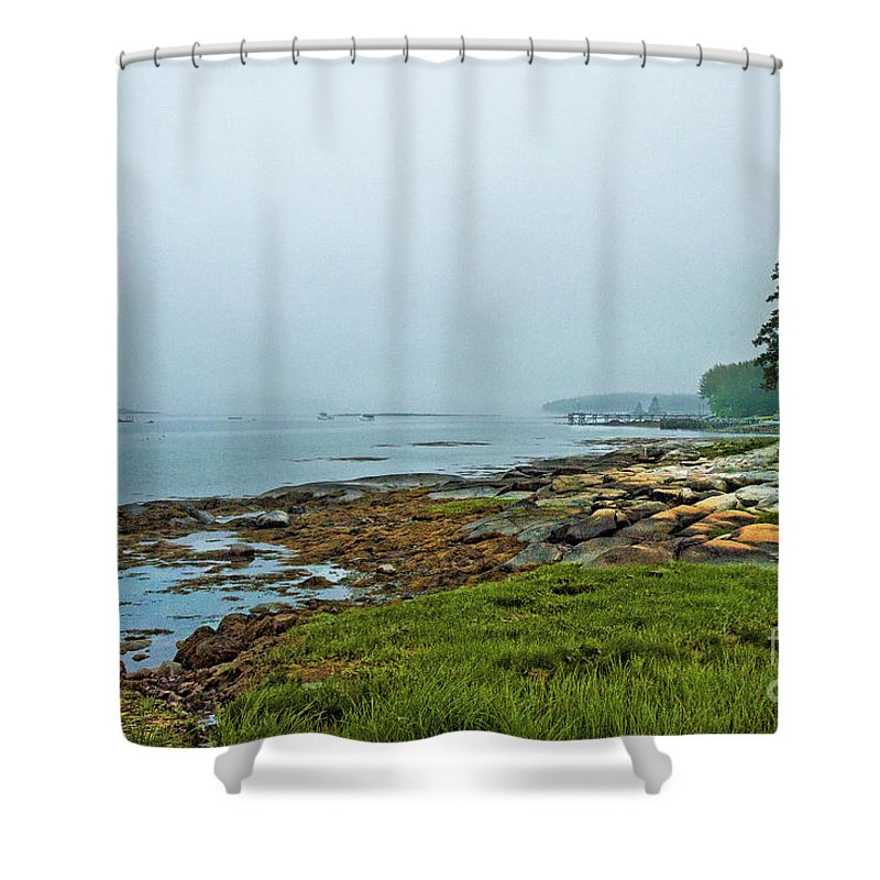 Shower Curtain featuring the photograph Morning Fog - Maine by Zbigniew Krol