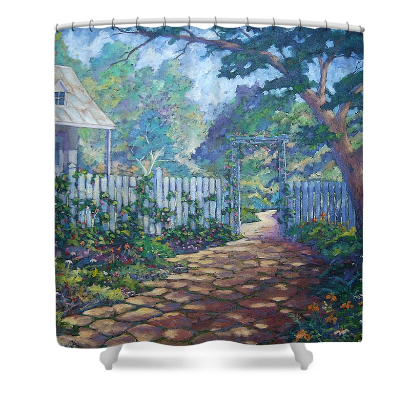 Painter Art Shower Curtain featuring the painting Morning Glory by Richard T Pranke