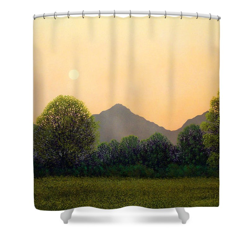 Landscape Shower Curtain featuring the painting Morning Light by Frank Wilson