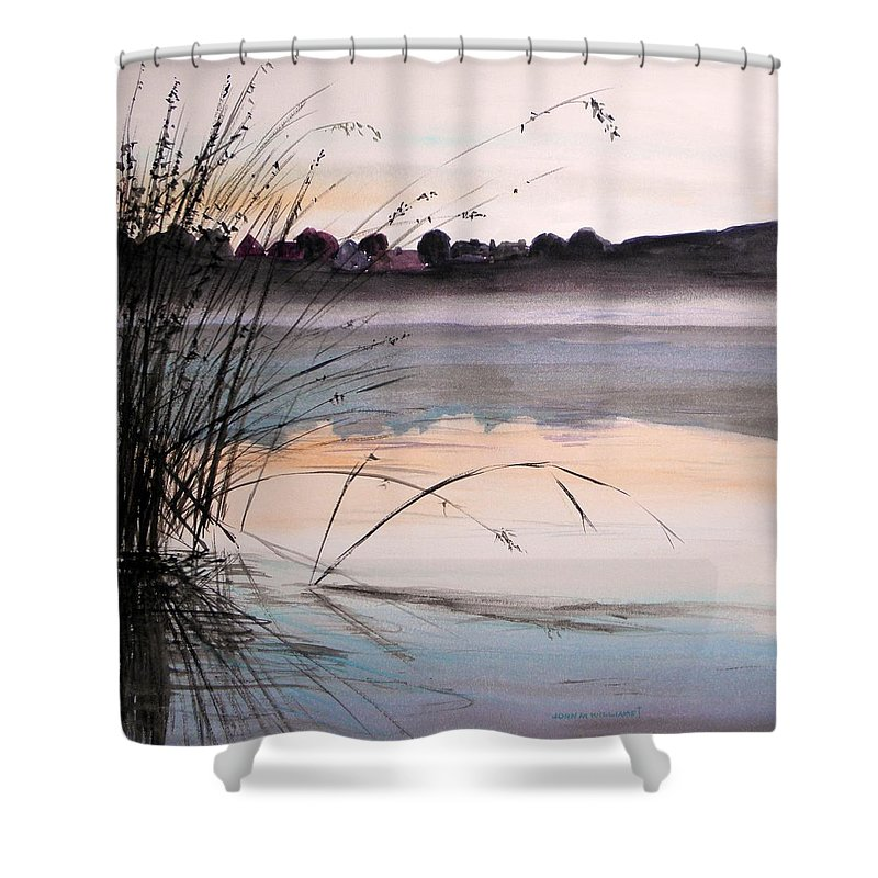 Watercolor Shower Curtain featuring the painting Morning Light by John Williams