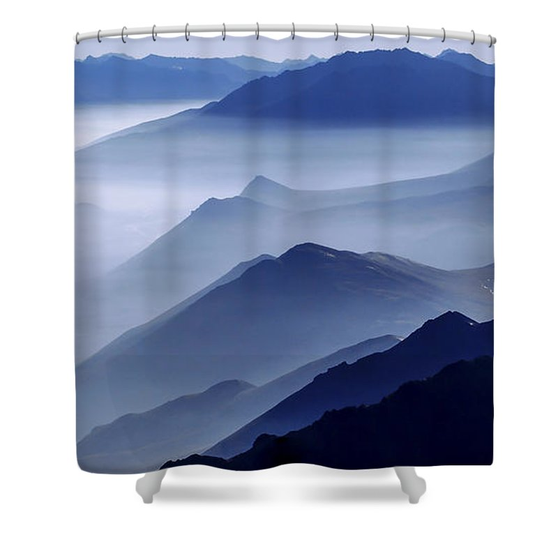Morning Mist Shower Curtain featuring the photograph Morning Mist by Chad Dutson