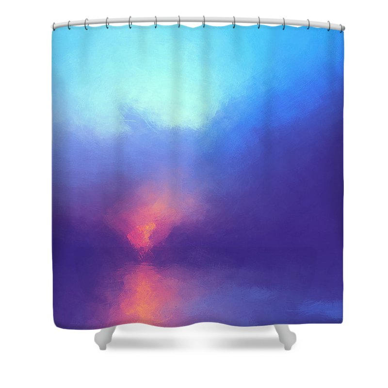 Lc Bailey Shower Curtain featuring the digital art Morning Song by Lonnie Christopher