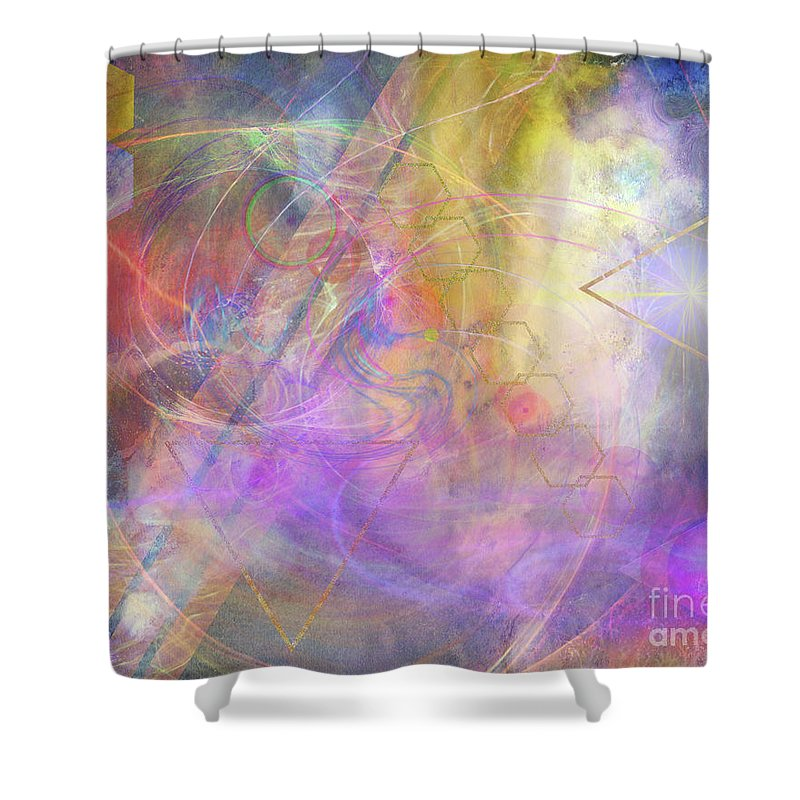 Morning Star Shower Curtain featuring the digital art Morning Star by John Beck