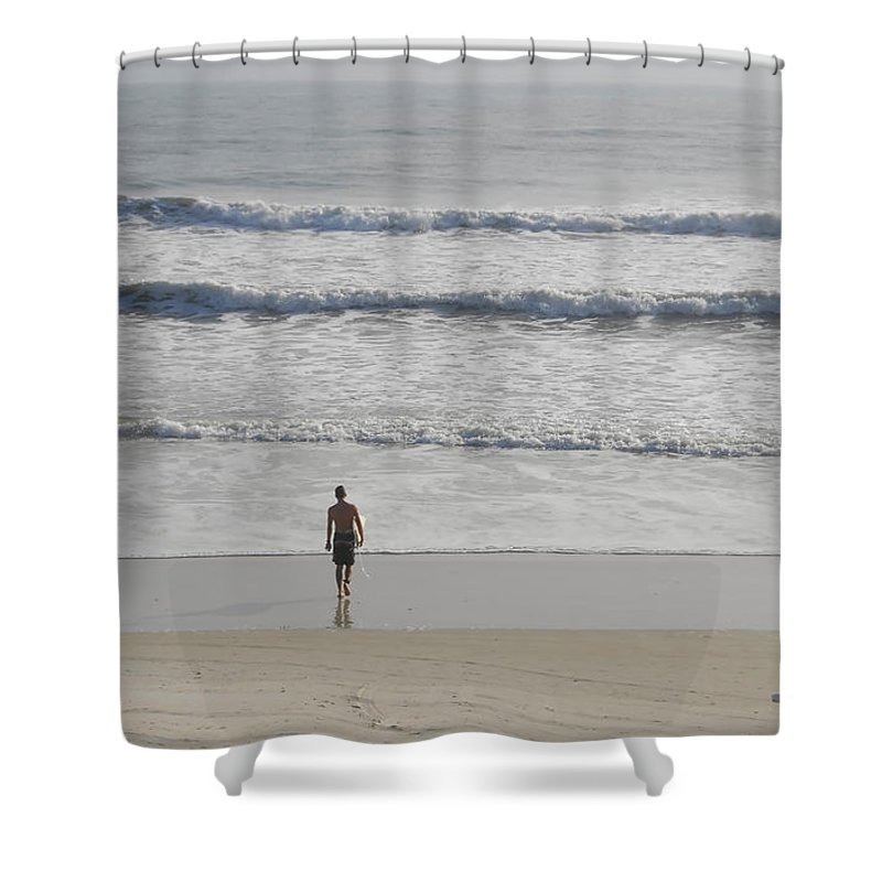Surfing Shower Curtain featuring the photograph Morning Surf by David Lee Thompson
