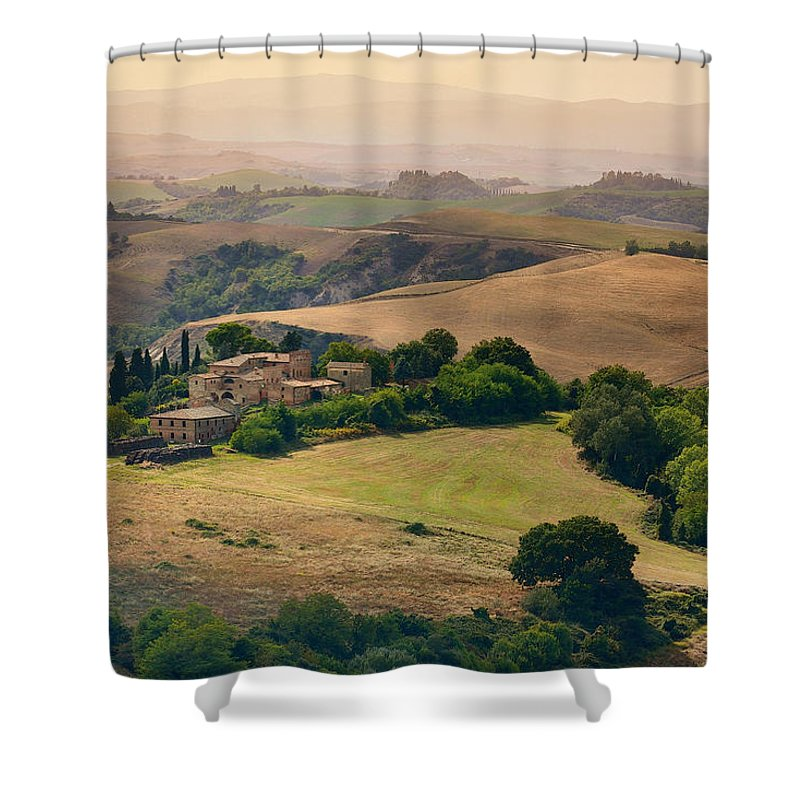 Landscape Shower Curtain featuring the photograph Morning View by Mauro Maione