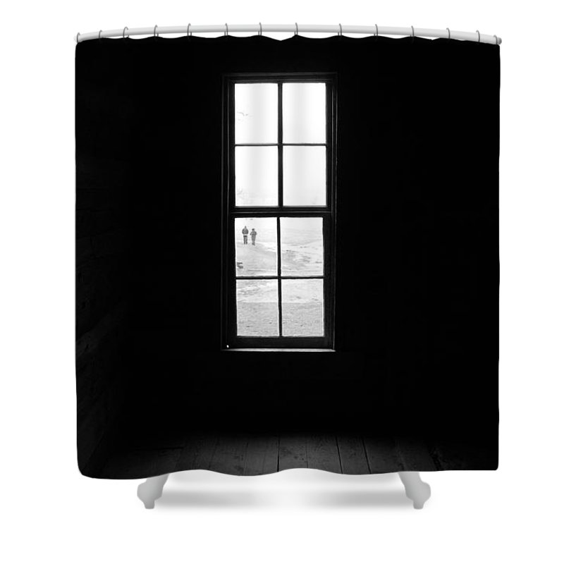 Dark Shower Curtain featuring the photograph Morning Walk by Theron Clore