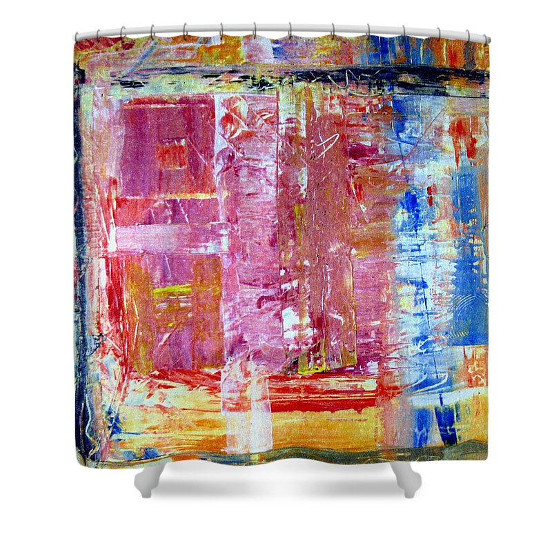 Abstract Shower Curtain featuring the painting Morning by Wayne Potrafka