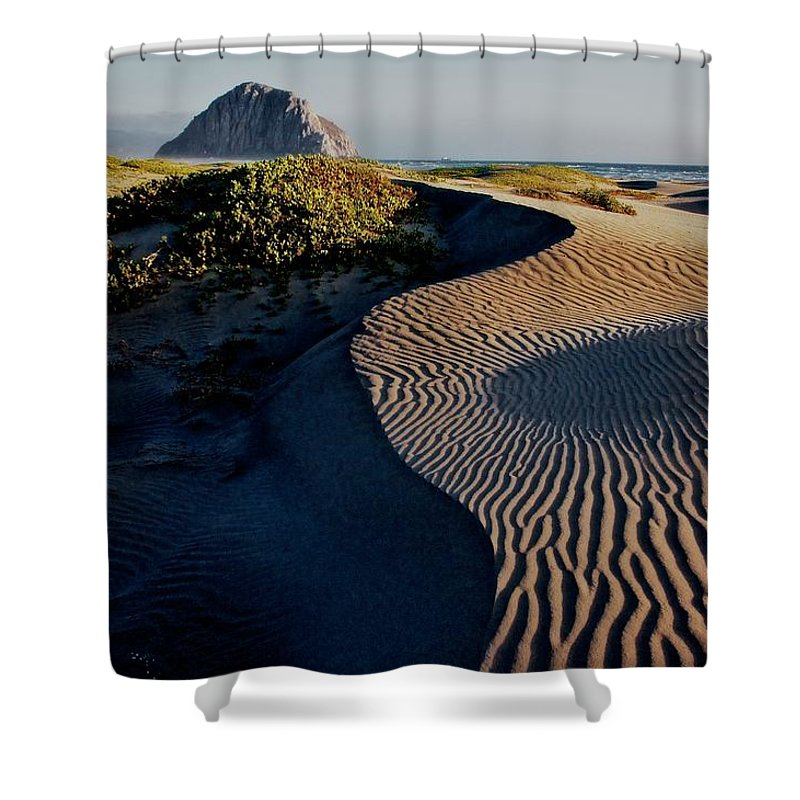 Nature Shower Curtain featuring the photograph Morro Strand State Beach, California by Zayne Diamond Photographic