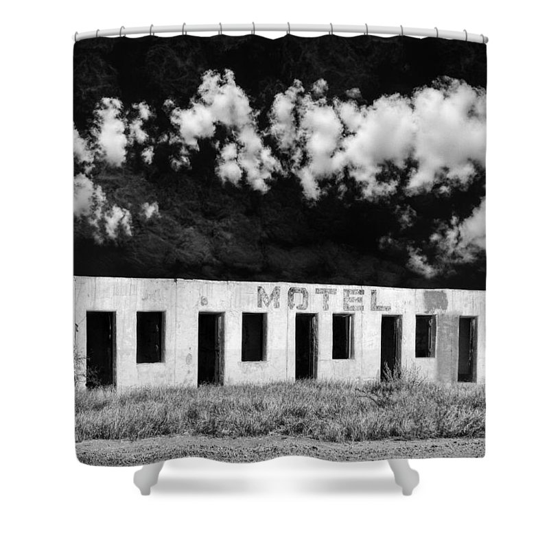 Motel Shower Curtain featuring the photograph Motel by Dominic Piperata