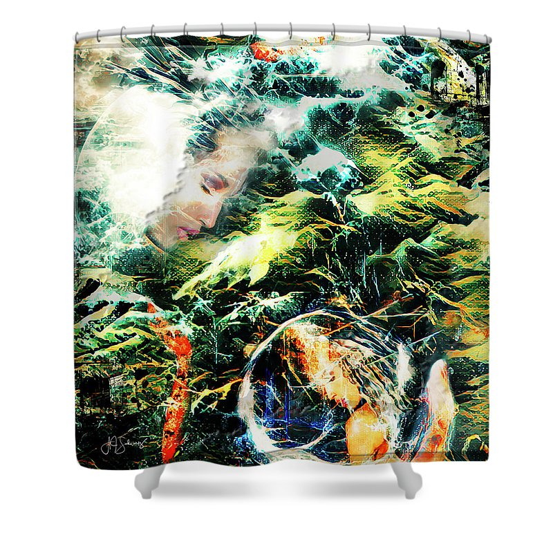 Moon Shower Curtain featuring the photograph Mother Earth Sister Moon by Allyson Schwartz