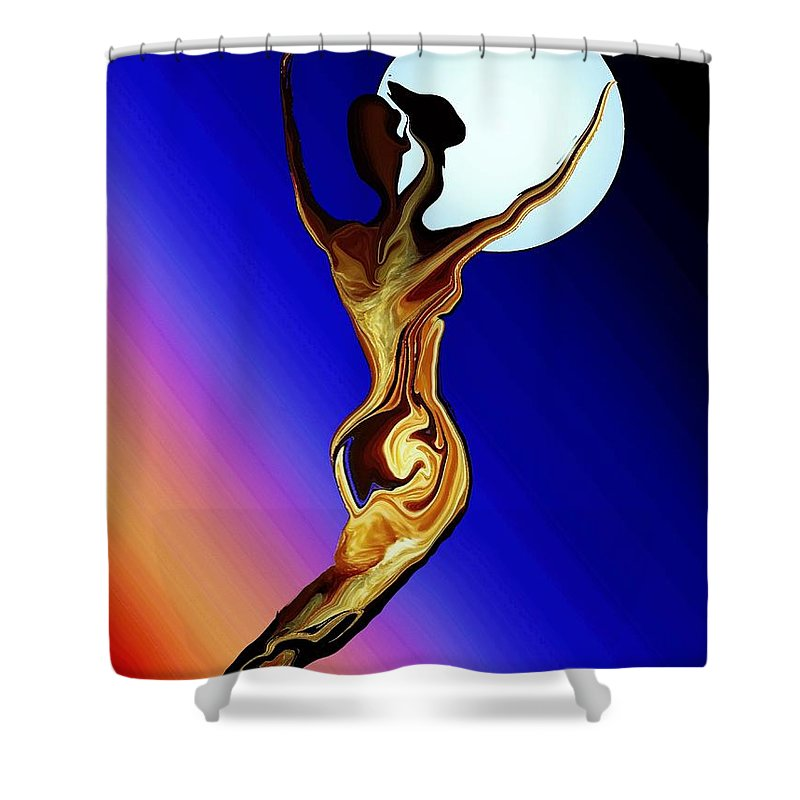 Tree Female Shower Curtain featuring the digital art Mother Nature by Robin Monroe