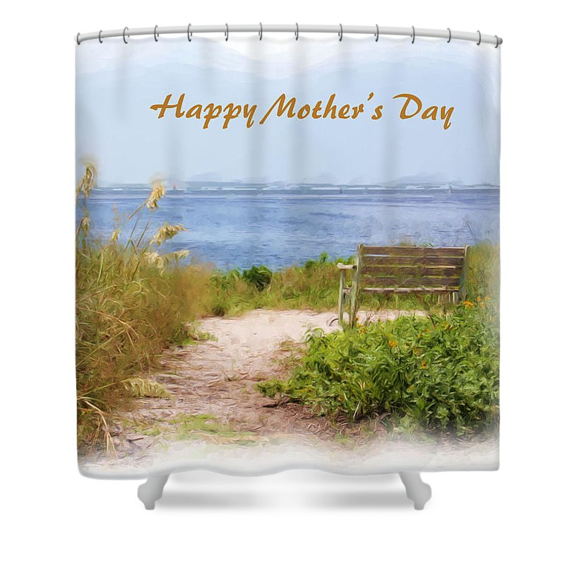 Mother\'s Day Beach Scene Shower Curtain for Sale by Rosalie Scanlon
