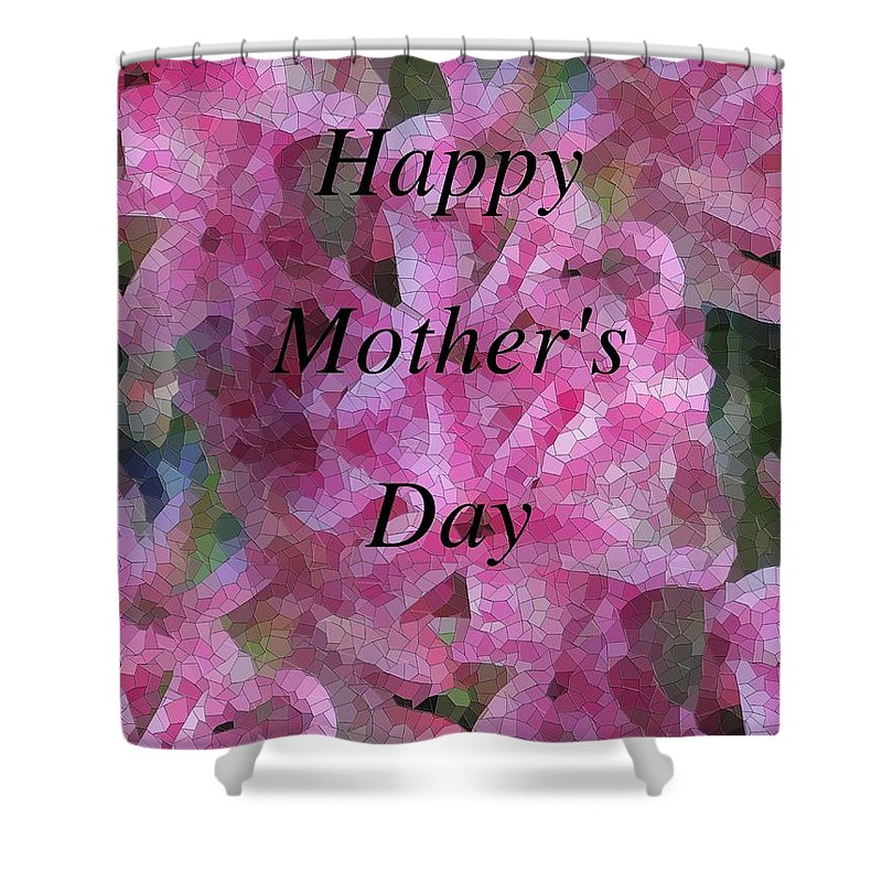 Flowers Shower Curtain featuring the digital art Mother's Day Pretty In Pink by Tim Allen