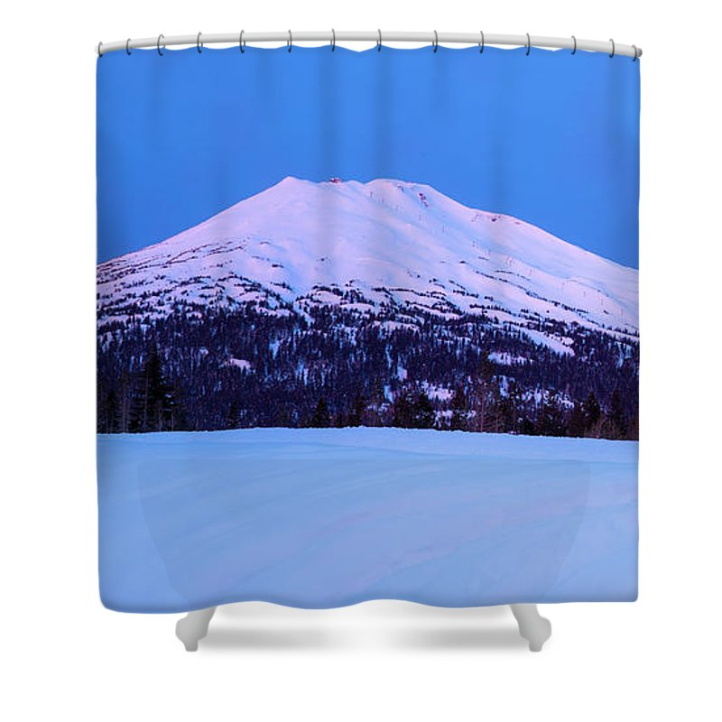 Mount Bachelor Shower Curtains