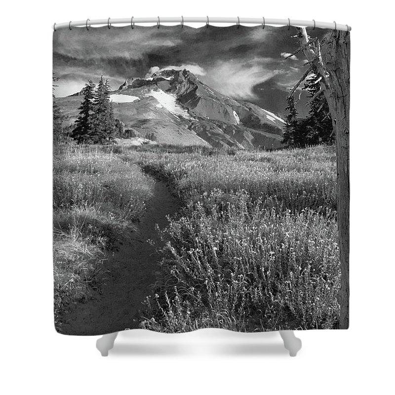 Mount Hood Shower Curtain featuring the photograph Oregon's Mount Hood by Dan Bernard