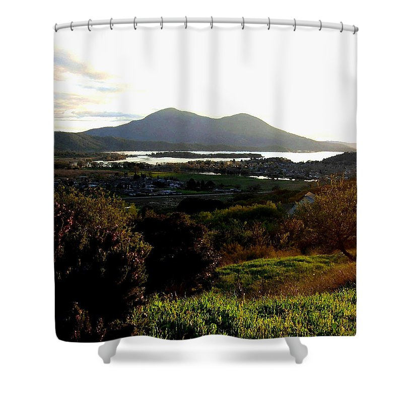 Mount Konocti Shower Curtain featuring the photograph Mount Konocti by Will Borden