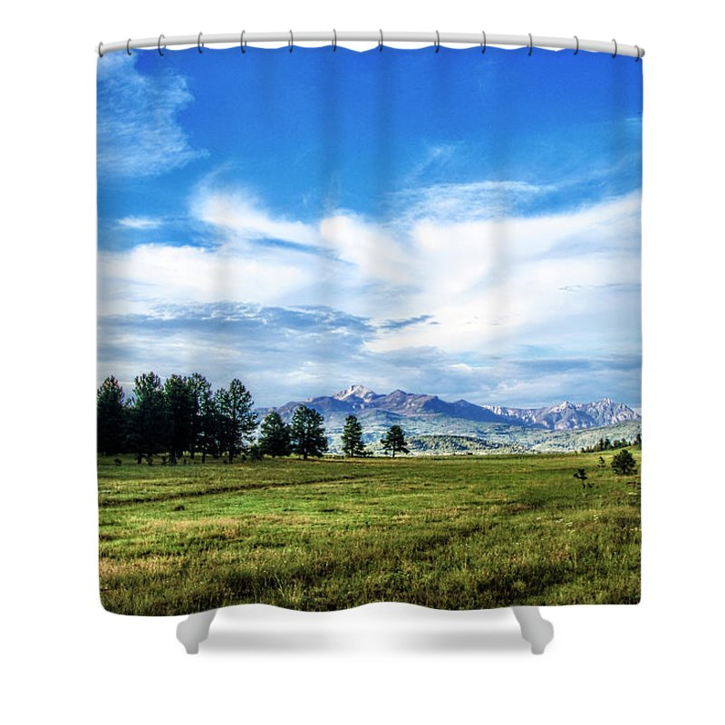 Colorado Shower Curtain featuring the photograph Mount Pagosa Meadow by Mike Braun