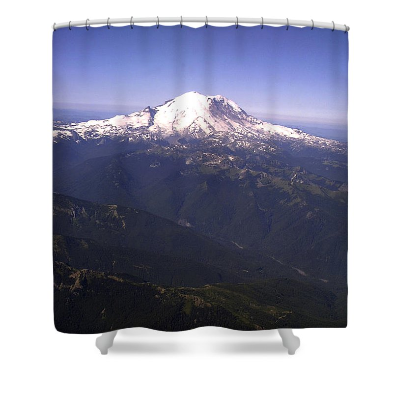 Mount Rainier Shower Curtain featuring the photograph Mount Rainier Washington State by Merja Waters