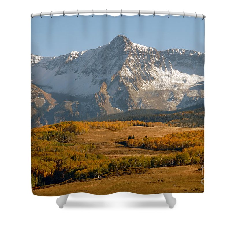 Mount Sneffels Shower Curtain featuring the photograph Mount Sneffels by David Lee Thompson