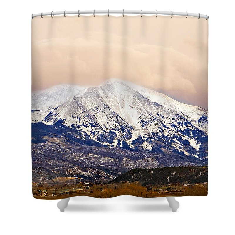 Americana Shower Curtain featuring the photograph Mount Sopris by Marilyn Hunt