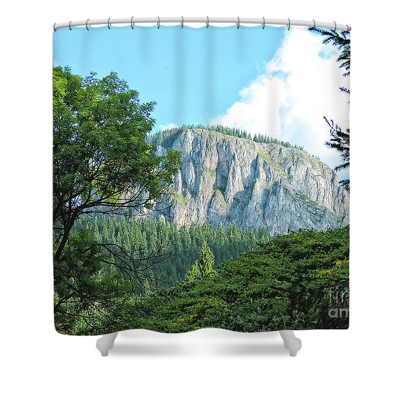 Mountains Shower Curtain featuring the photograph Mountain Charm by GabeZ Art