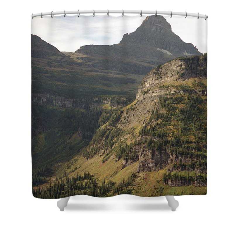 Glacier Shower Curtain featuring the photograph Mountain Glacier by Richard Rizzo