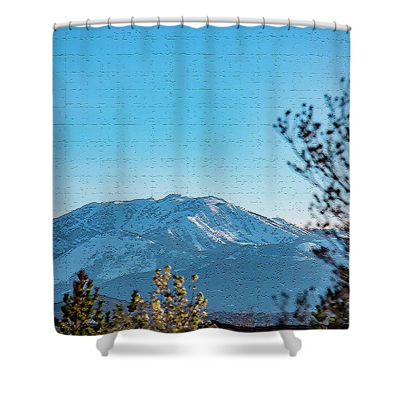 Mountain Shower Curtain featuring the photograph Mountain Majestic by Nancy Marie Ricketts