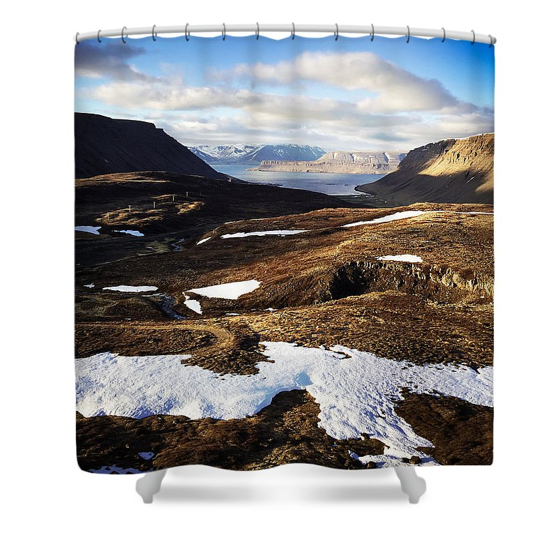 Iceland Shower Curtain featuring the photograph Mountain Pass In Iceland by Matthias Hauser