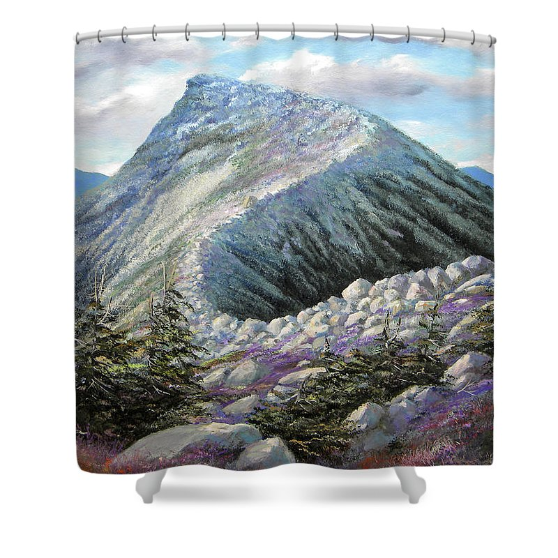 Landscape Shower Curtain featuring the painting Mountain Ridge by Frank Wilson