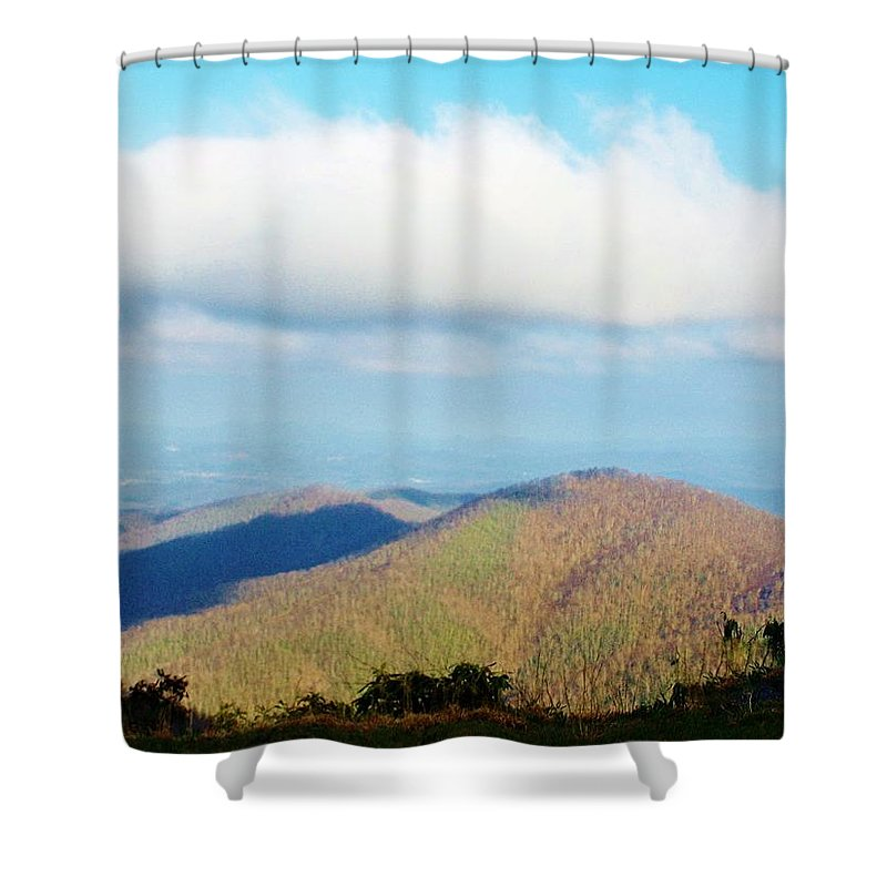 Mountain Shower Curtain featuring the photograph Mountain-scape by Michele Kaniarz