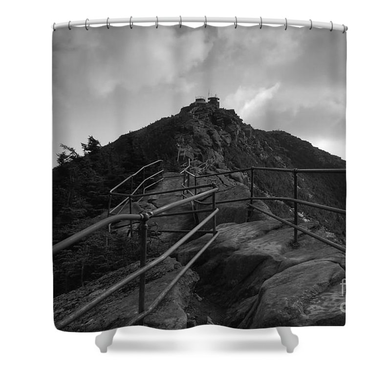 White Face Mountain New York Shower Curtain featuring the photograph Mountain Trail by David Lee Thompson