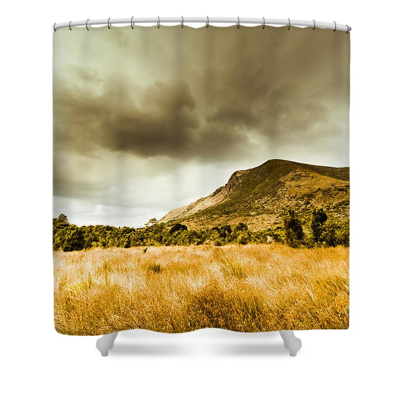 Dry Shower Curtain featuring the photograph Mountainous Storms by Jorgo Photography - Wall Art Gallery
