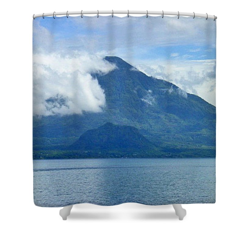 Atitlan Shower Curtain featuring the photograph Mountains Of Atitlan by Lauris Burns