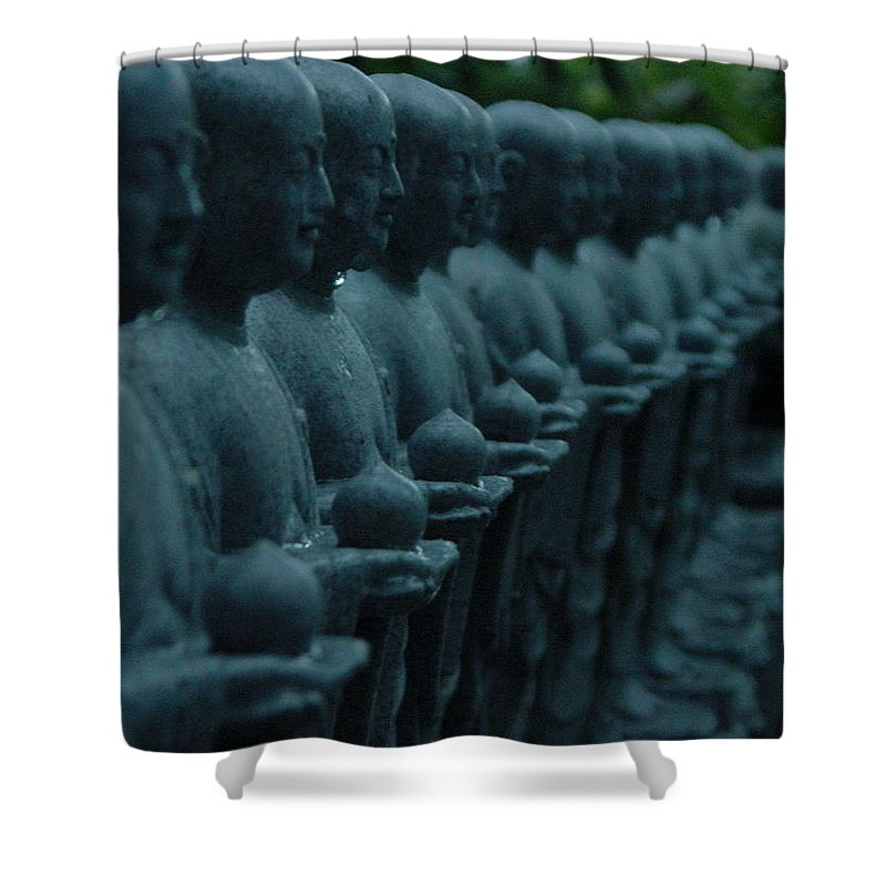Statues Shower Curtain featuring the photograph Mourning Row by D Turner
