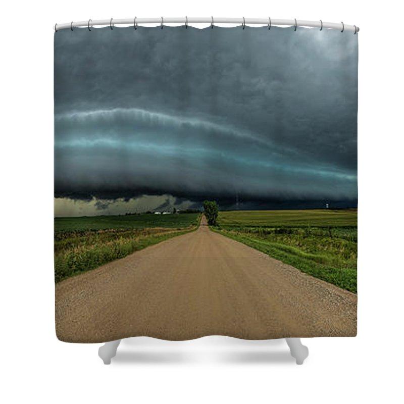 Shelf Cloud Shower Curtains