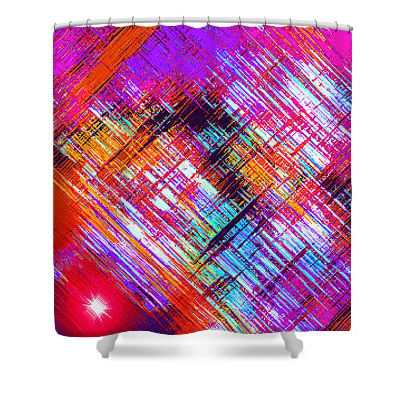 Moveonart! Digital Gallery Shower Curtain featuring the digital art Moveonart A Night On The Town by Jacob Kanduch