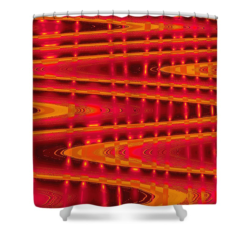 Moveonart! Digital Gallery Shower Curtain featuring the digital art Moveonart Abstract Waves And Light Four by Jacob Kanduch